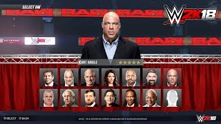 WWE 2K18 GM Mode Career - Kurt Angle Becomes RAW GM - Gameplay Concept PS4/XB1
