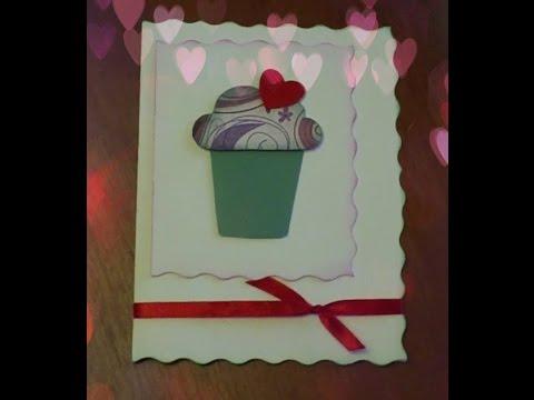 """Валентинка своими руками """"сладкий кекс"""". Открытка своими руками"""