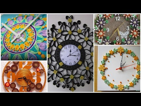 Paper Quilling Wall Clock Designs for home decore/Quilling wall Clock designs