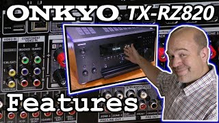 onkyo TX-RZ820 Receiver Features  Enhance Your Home Theater!