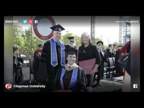 Mom surprised with honorary degree after helping quadriplegic son complete his MBA