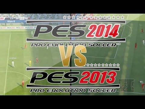PES 2014 Vs PES 2013 - GRÁFICOS E JOGABILIDADE (HD)