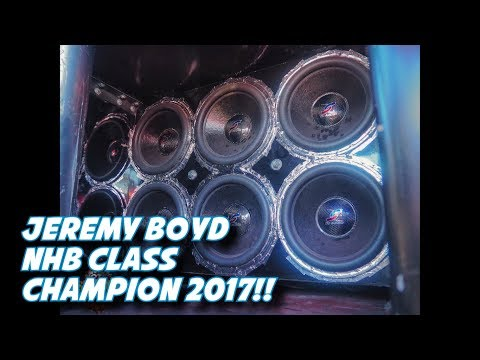 Jeremy Boyd NHB Championship Runs!! 2017 167+ db'S ON MUSIC!!