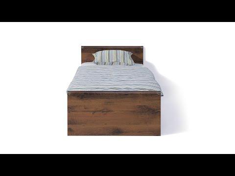 Кровать JLOZ 90 цвета дуб саттер