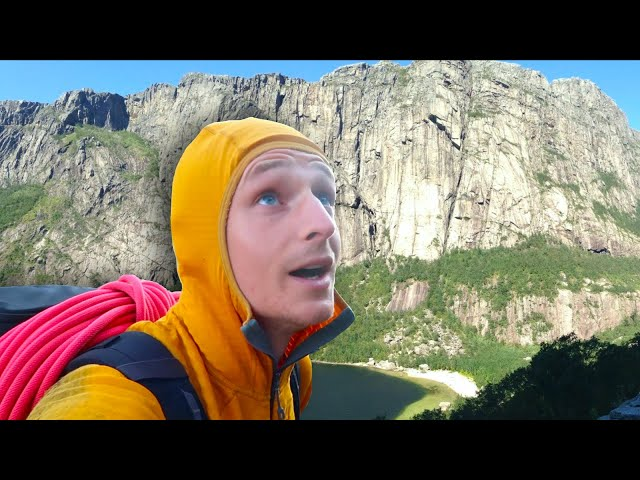 Soloing Gloppedalen North Wall - First Ascent