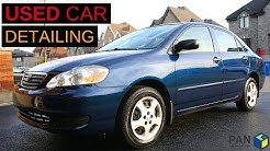 HOW TO DETAIL A USED CAR : An Old Toyota Corolla 2006 !!!