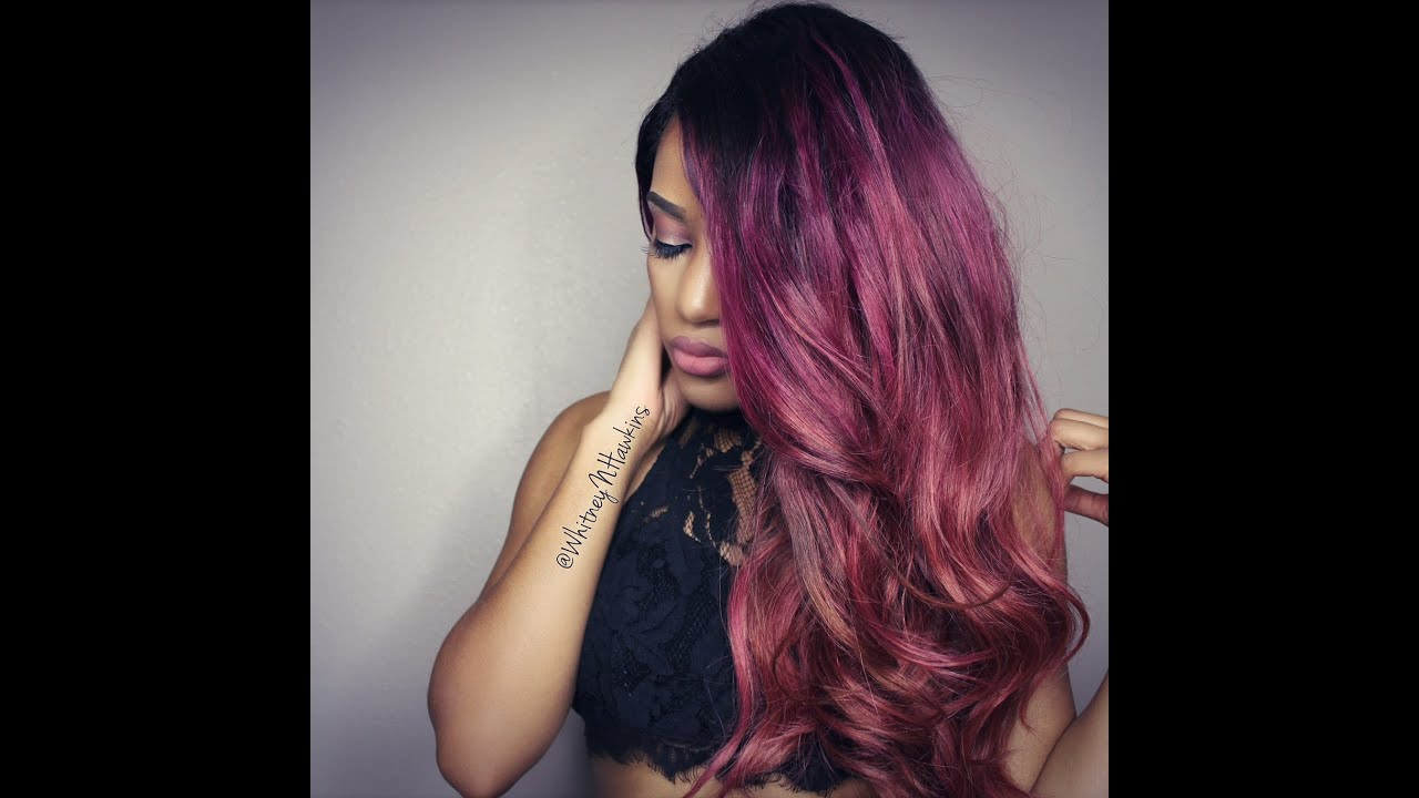 How To Violet Burgundy Pink Ombre Hair Rpg Show Wig