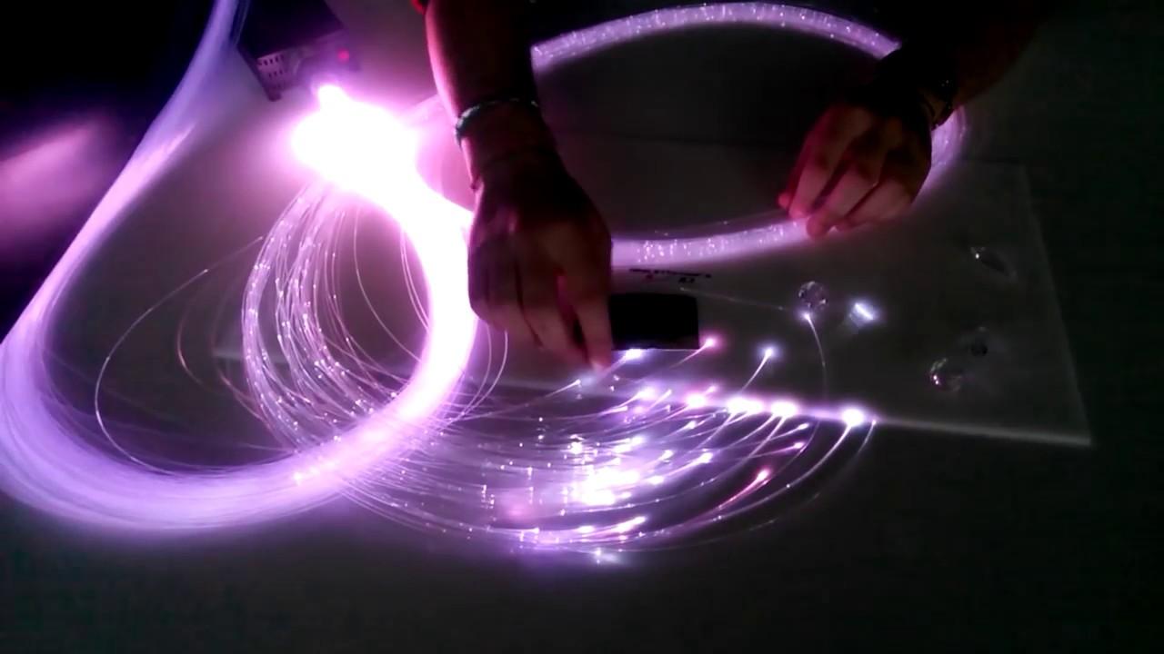 Kit cielo stellato in fibra ottica - cielo stellato e arredamento luminoso 1 - YouTube