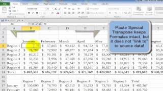 Two Ways to Transpose Excel Data