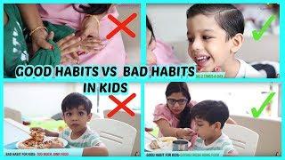 Good Habits Vs Bad Habits For kids | SuperPrincessjo #kids #sketch #educational