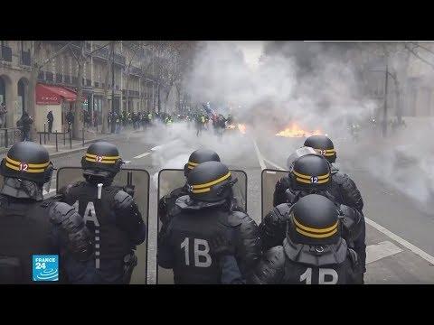 إحباط أعوان الشرطة الفرنسية الذين واجهوا -السترات الصفراء-  - نشر قبل 2 ساعة