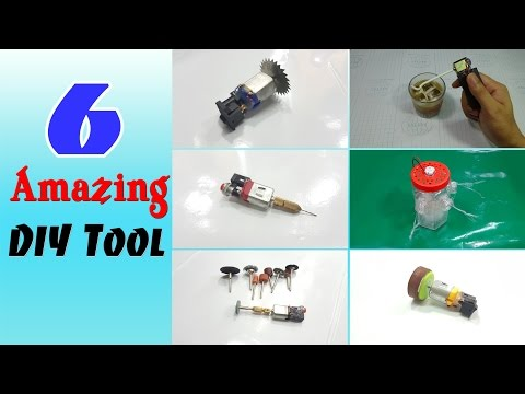 6 Amazing DIY Tool you can make at home | Life hacks 3 Volt DC Motor