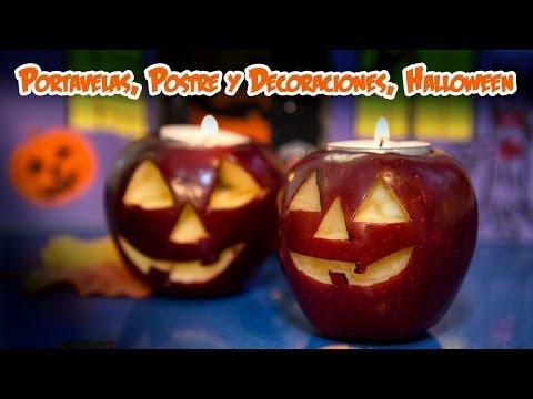 Portavelas, Postres y Decoraciones Naturales Halloween
