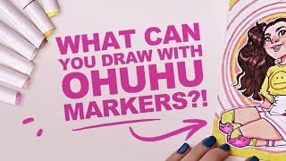 BLENDING WITH A CHISEL NIB!? | Ohuhu Markers | Best Cheap Copic Dupe