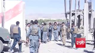 Taliban insurgents blew open the gate to the Paktia police headquarters compound