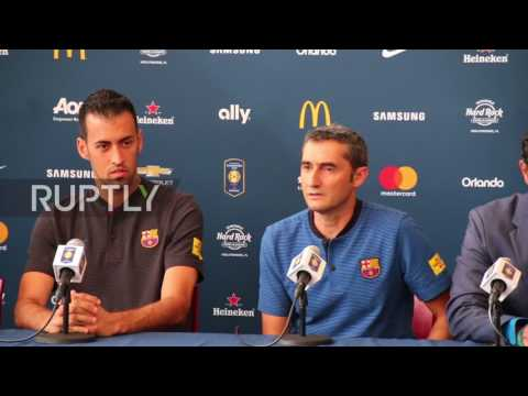 USA: FC Barcelona manager and teammate rebuff Neymar transfer rumours
