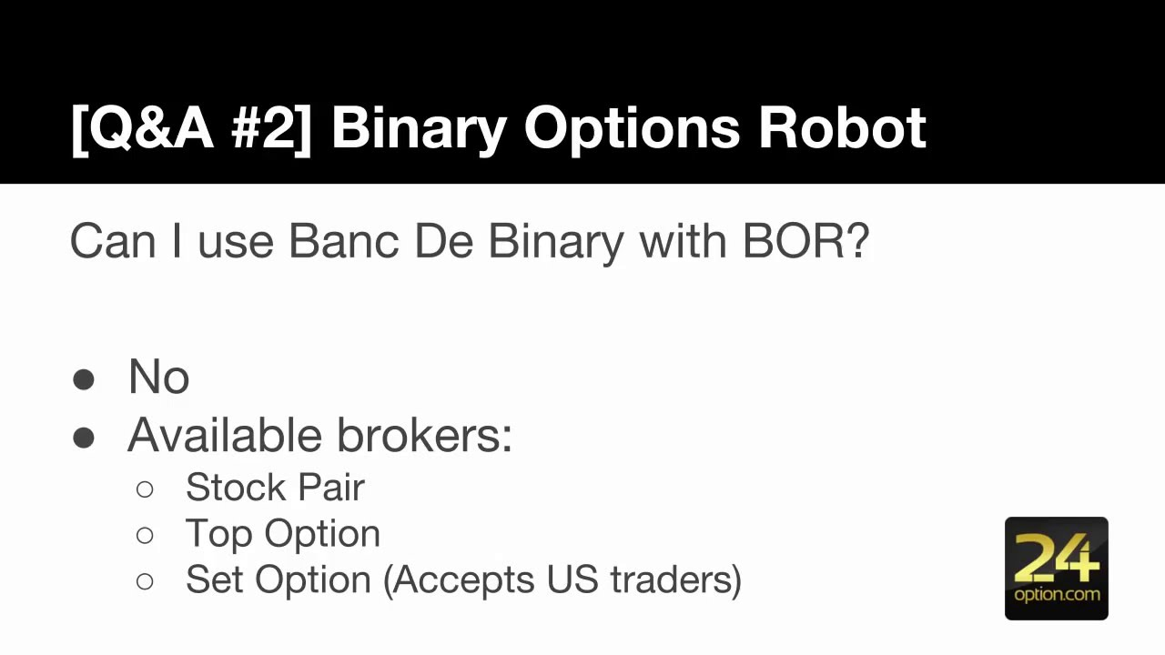 Best settings for binary option robot