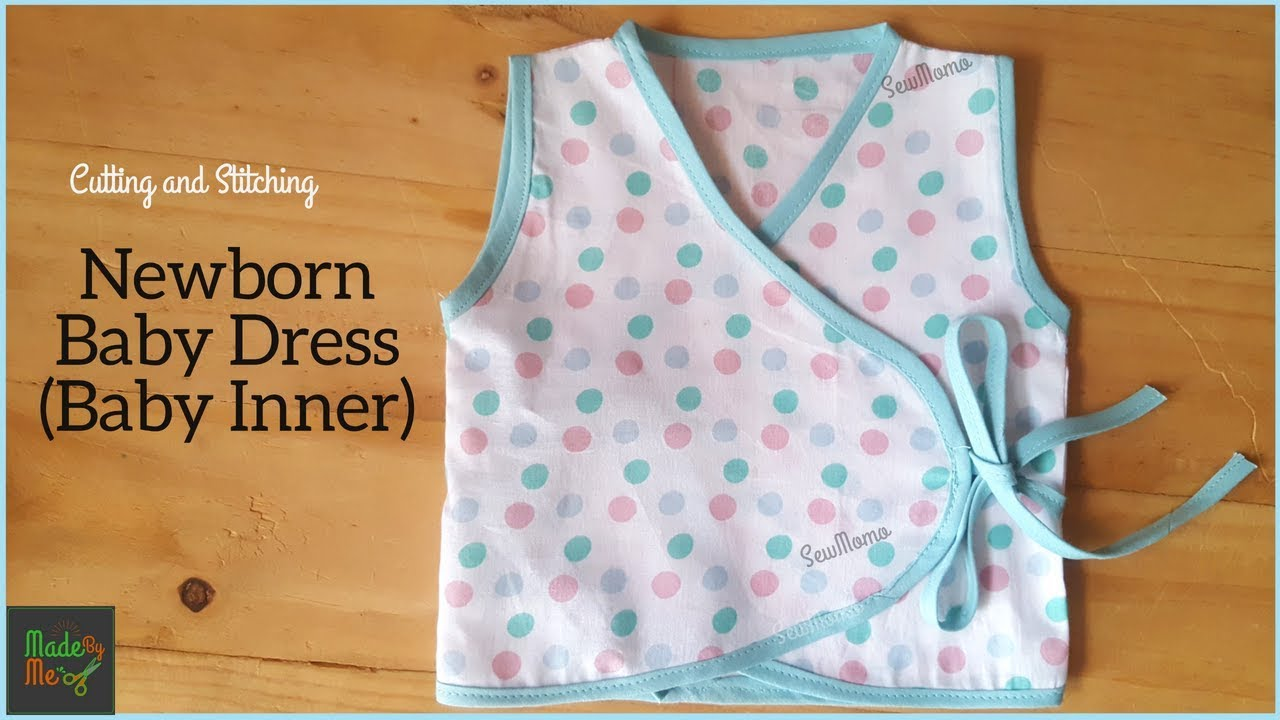 New Born Baby Dress Cutting and Stitching  DIY Baby Inner