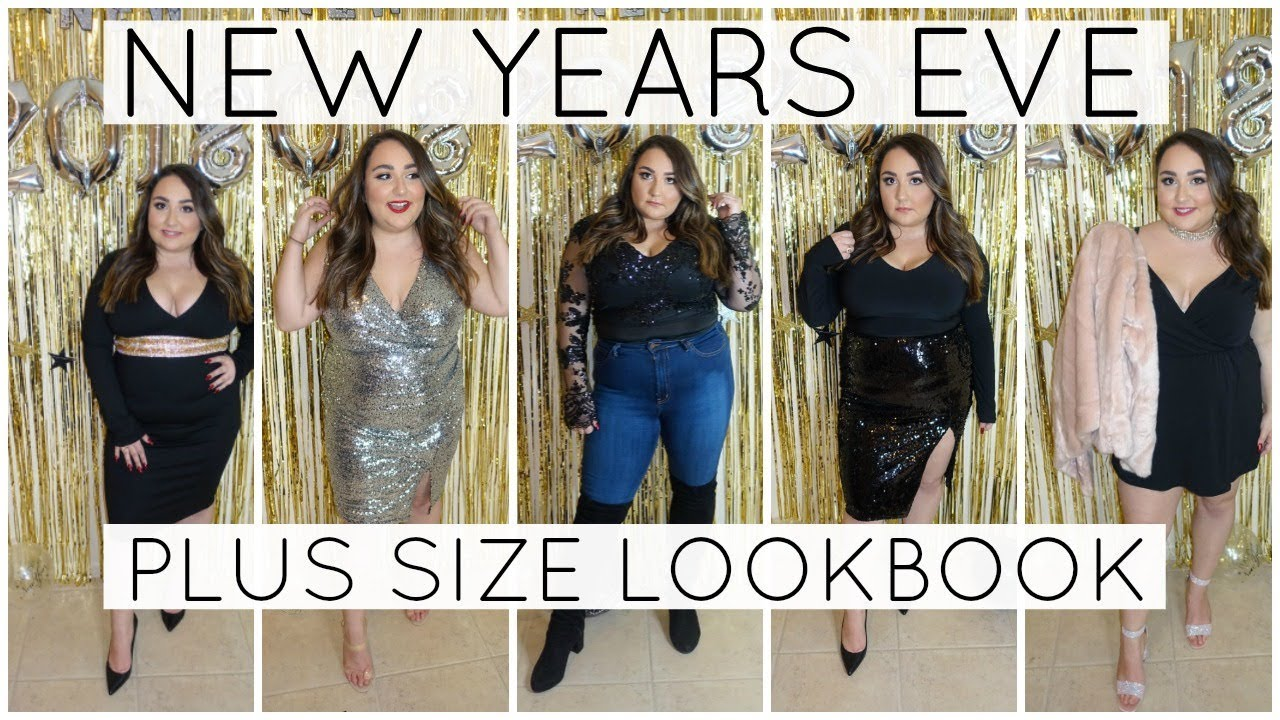 New Years Eve Lookbook 8 Plus Size Outfit Ideas Youtube