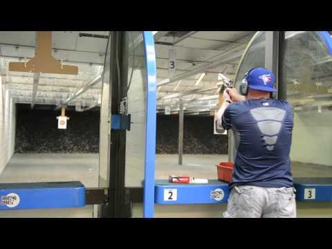 Andy firing the .357 magnum at Shooting Sports, Tampa, Florida.