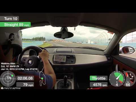 BMW Z4 Porsche 911 and Fairlady Z 432 at Watkins Glen Race Track