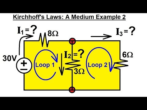 Electrical Engineering: Basic Laws (11 of 28) Kirchhoff's Laws: A Medium Example 2