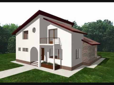 Proiect casa nadia proiecte case cu mansarda youtube for Arhitectura case cu mansarda