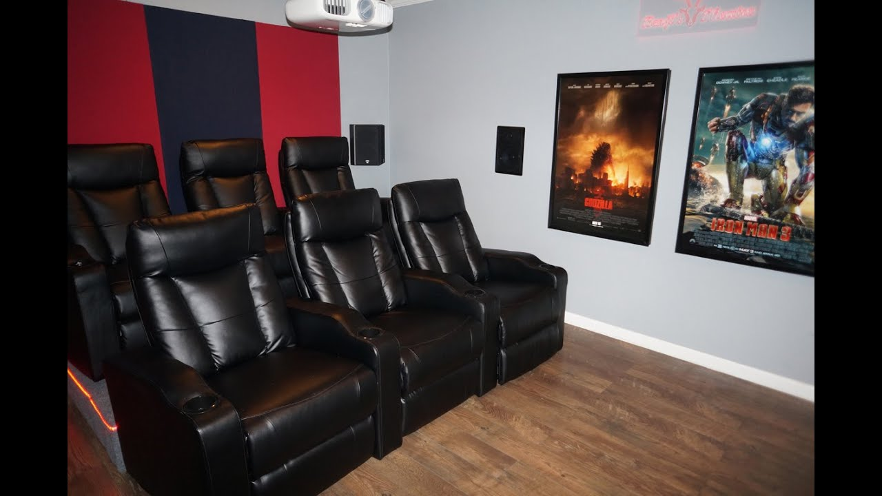 Updated diy home theater movie room w epson 3020 - Thx home cinema ...