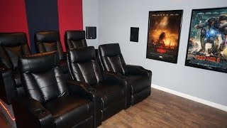 Updated DIY Home Theater Movie room w/ Epson 3020 Projector, Klipsch THX, Denon 6200 Dolby Atmos