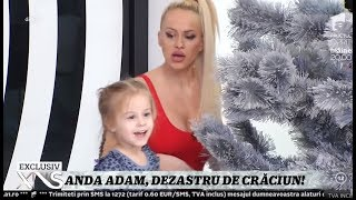 Anda Adam şi soţul ei, Sorin, au împodobit bradul de Crăciun