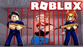 POPEYE ATRAPADO EN LA PRISION DE MAD CITY en ROBLOX (PRISON ESCAPE) 😂