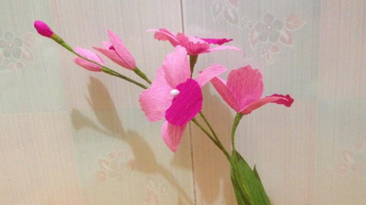 beautiful orchid crepe paper flowers