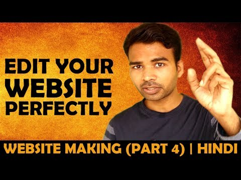 How To Edit Your Website Perfectly   HINDI   WEBSITE MAKING (PART 4)