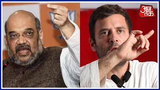 Amit Shah Slams Rahul Gandhi Over Raincoat Jibe