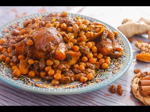 كوارع مغربية /الرفيسة المغربية بخبز الصاج - مطبخ اسيا