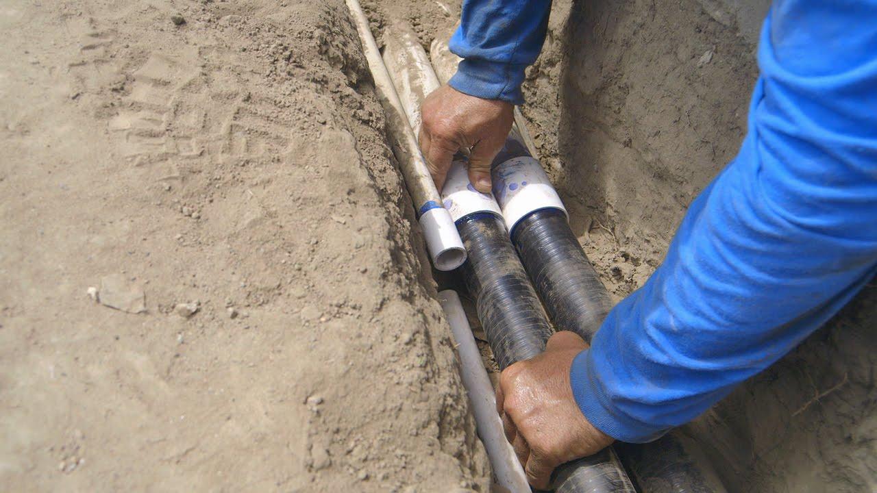 Koi Pond Construction Pond Plumbing Tie Ins Part 21 Youtube