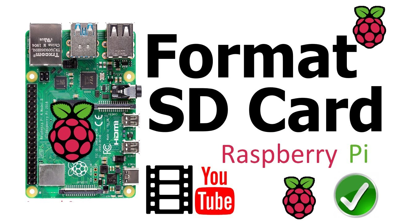 formater carte sd raspberry Raspberry Pi 4B: How to Format an SD Card of size 16 GB for use