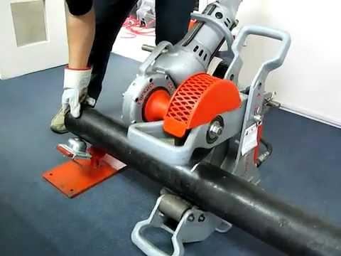 RIDGID 258 Power Pipe Cutter Demo - Cosmo Petra