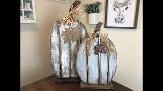 WOODEN PUMPKIN DIY| Fall DIY Dupes Challenge| Hosted by Kenya Decor Corner & Eclectic Kristen|