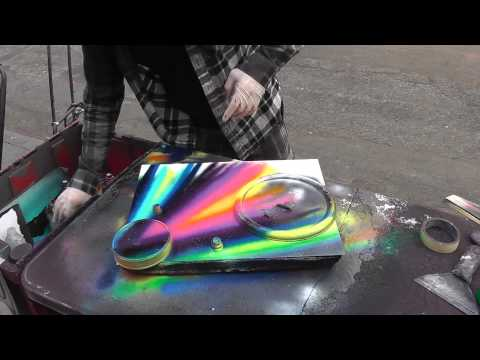 Kat Jackson - NYC Street Artist Creates Magic in 4 minutes