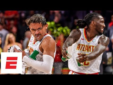 Trae Young hits game winner from deep, drops 22 in Hawks vs Spurs   NBA Preseason Highlights