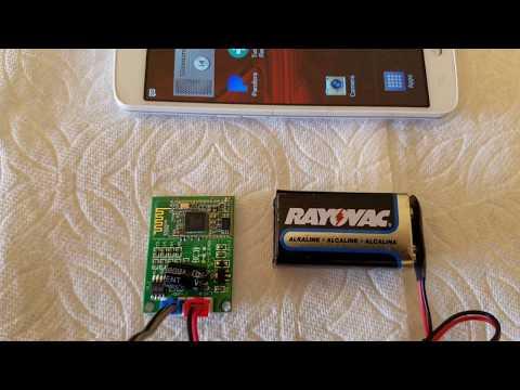 Bluetooth Power amplifier, 8 watts Mono DC 9V, Module From EBay