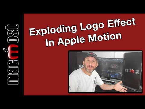 Exploding Logo Effect In Apple Motion (MacMost #1932)