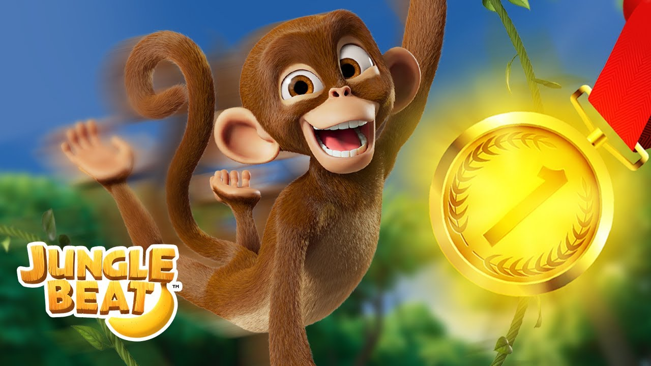 TRAVEL THE WORLD ✈️🏅 JUNGLE OLYMPICS | Jungle Beat NEW Episode! | VIDEOS and CARTOONS FOR KIDS 2021