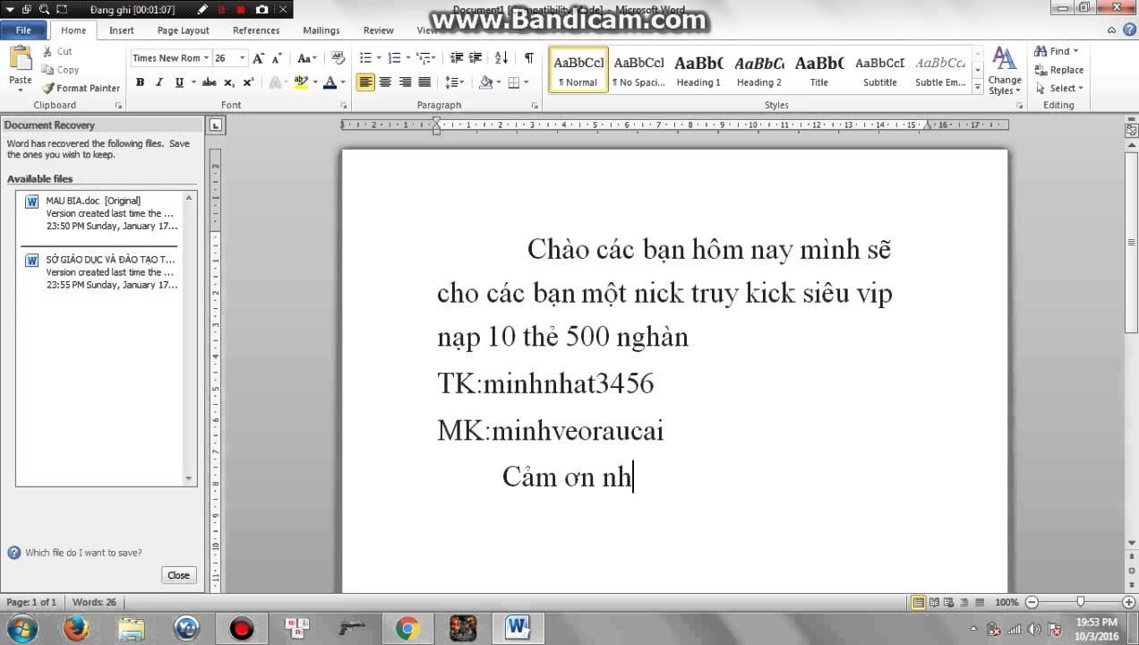 Cho nick truy kick vip đây
