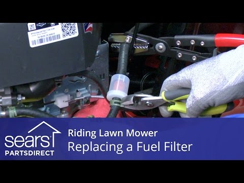 Replacing a Fuel Filter on a Riding Lawn Mower