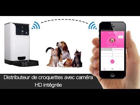 CAMÉRA IP WIFI HD 720P DANS UN DISTRIBUTEUR AUTOMATIQUE DE NOURRITURE POUR ANIMAUX
