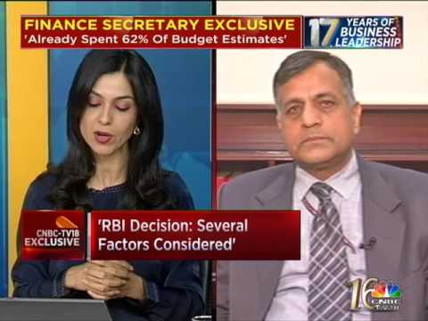 Exclusive: Finance Secretary Ashok Lavasa Speaks To CNBC-TV18- Part 1