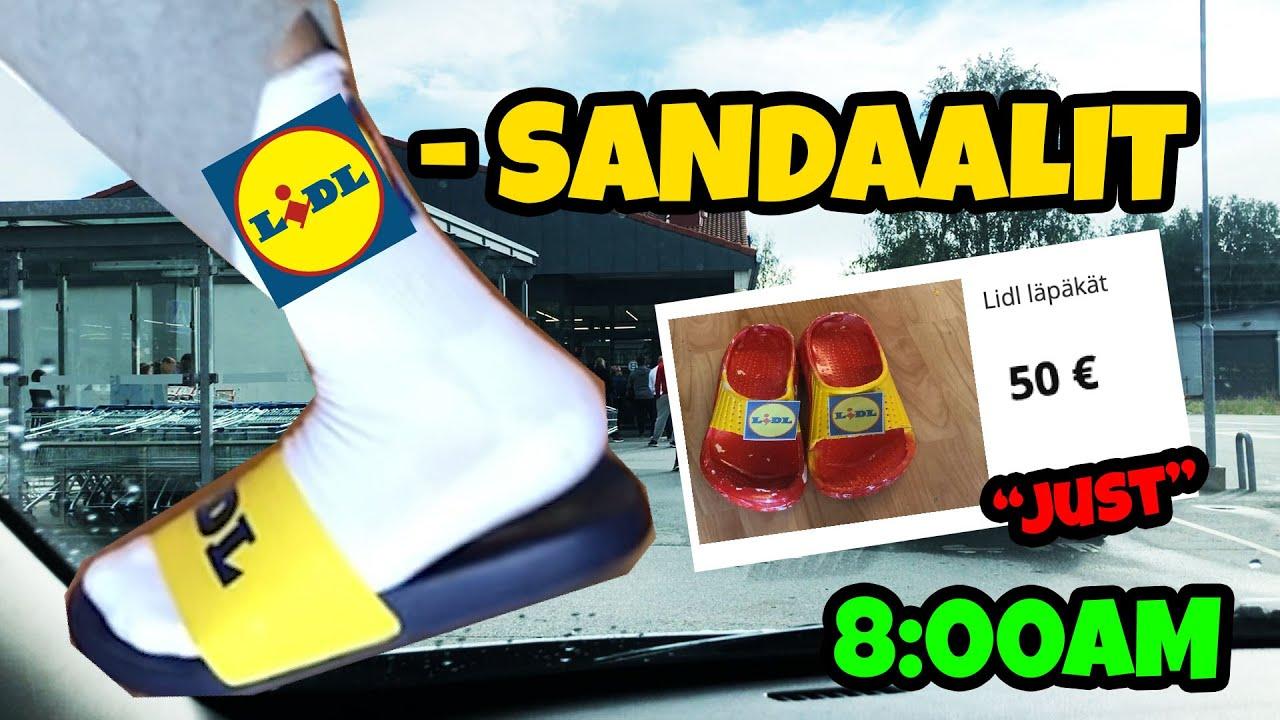 Lidlin sandaalit jonotusta, kyyneliä ja hikeä #lidl #sandaalit