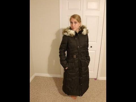 fe2ec3295fc EOVVIO Plus Long Thickened Fur Hooded Down Jacket Coat - YouTube